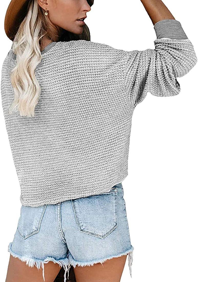 Women/'s Shirts with Pocket Casual Pullover Sweaters Long Sleeve T Shirts Sweatshirts Tops Blouses