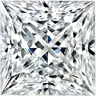 Moissanite Princess Cut VG Quality 9.0 mm 57 facets, Loose Stone