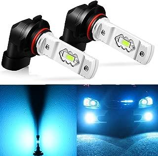 JDM ASTAR Extremely Bright 3600 Lumens High Power H10 9145 9140 9050 9155 LED Fog Light Bulbs for DRL or Fog Lights, Ice Blue