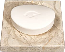 CraftsOfEgypt Beige Marble Soap Dish - Polished and Shiny Marble Dish Holder – Beautifully Crafted Bathroom Accessory