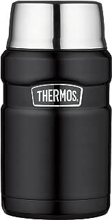 Thermos 膳魔师 帝王系列 24盎司 不锈钢旅行食物保温罐 磨砂黑