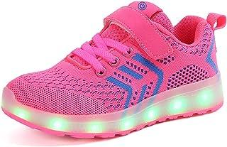 6a3204cc Ansel-UK LED Zapatos Verano Ligero Transpirable Bajo 7 Colores USB Carga  Luminosas Flash Deporte