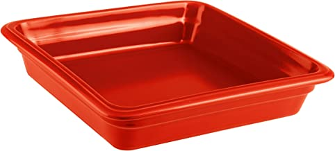 Paderno World Cuisine 44313R06 Induction Or Porcelain Hotel Pan, Medium, Red