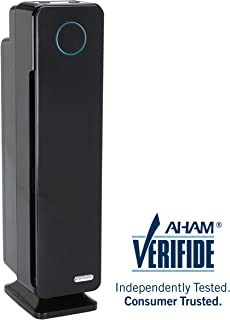 Germ Guardian True HEPA Filter Air Purifier for Home, Office, Large Rooms, Filters Allergies, Pollen, Smoke, Dust, Pet Dander, UVC Sanitizer Eliminates Germs, Mold, Odors, Quiet 28 inch 3-in-1 AC5300B