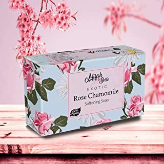 Mirah Belle - Rose Chamomile Softening Soap Bar (125 gm) - For Dry and Cracked Skin. Helps makes Skin Soft and Smooth. SL...