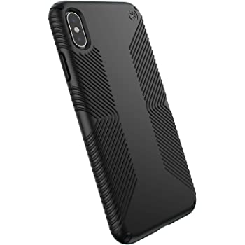 Speck Products Presidio Grip iPhone XS Max Case, Black/Black