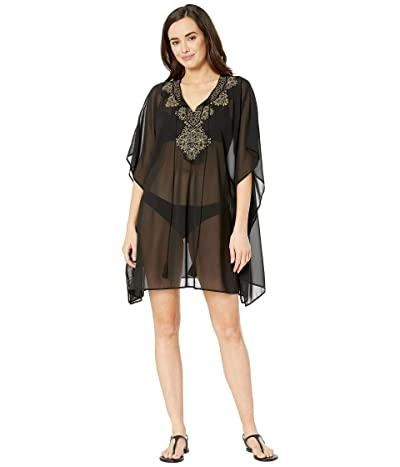 Miraclesuit Petal to the Metal Embellished Caftan Cover-Up (Black) Women