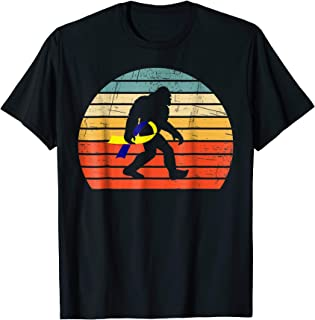 funny bigfoot carry yellow blue ribbon down syndrome t shirt