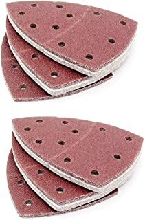 SOFIALXC Sanding Pads for Decker Mouse Sanders by Assortment - 11 Holes Hook and Loop Detail Palm Sander Sheets Sand Paper