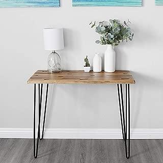 WELLAND Rustic Poplar Wood Console Table