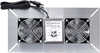 Durablow MFB M2D-S430 Air Out Stainless Steel 430 Crawl Space Foundation Dual Fans Ventilator + Built-in Dehumidistat + Freeze protection Thermostat + Radon Mitigation