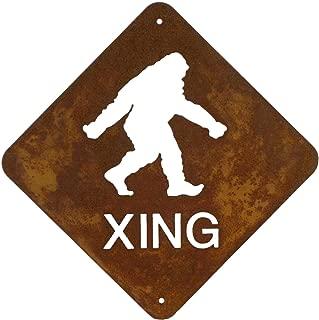 Zeds Zombie Ranch Bigfoot Crossing Steel Wall Sign