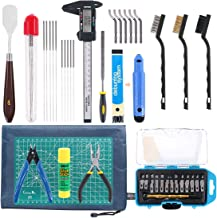 Rustark 42 Piece 3D Print Tool Kit Includes Debur Tool, Cleaning and Removal Tool with Storage Bag, 3D Printer Tool Set fo...