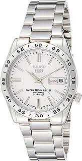 ساعة اوتوماتيكة مصنوعة من الستانلس ستيل من سيكو 5، بمينا ابيض للرجال - SNKD97J1