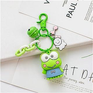 Keychain pendant Cartoon Cute Keychain Key Chain for Women Girls Kawaii Cartoon Frog Pudding Dog Penguin Bag Pendant (Colo...