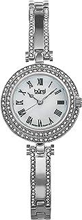 ساعة بمينا لؤلؤي وسوار من النحاس للنساء من بورغي - BUR108SS