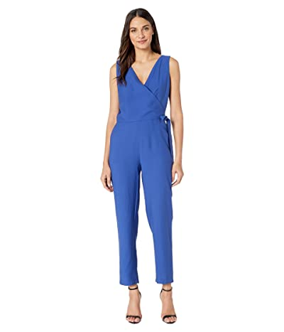 1.STATE Soft Twill V-Neck Jumpsuit (Navy Sea) Women