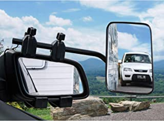 Homeon Wheels Clip-On Towing Mirrors, Universal Extended Mirrors and Extra Wide Adjustable Notice Applicable Vehicle Rearview Mirror is 0.59 inches Between Lens and Frame(Single)