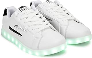 Luminous Sneakers Light Shoes Glowing with Luminous USB Cable + Charging Sole 7 Color Dancing Shoes for Men