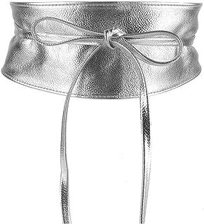 MYB Cintura fusciacca per donna in similpelle - modello obi - taglia unica - diversi colori disponibili
