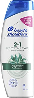 Head Shoulders Itchy Scalp Care Anti Dandruff 2-in-1 Shampoo and Conditioner With Eucalyptus Extract, 350ml (Pack of 1)