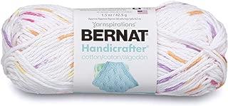 Bernat Handicrafter Cotton Ombre Yarn, 1.5 oz, Gauge 4 Medium, 100% Cotton, Floral Prints