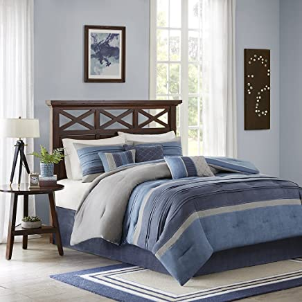 featured product Madison Park Collins 7 Piece Comforter Set Navy Cal King