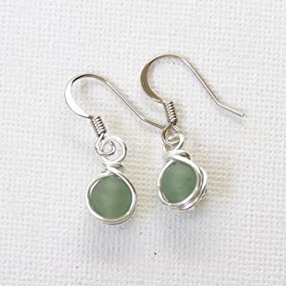 Green Aventurine Beads Dangle Earrings - Semi Precious Jewelry