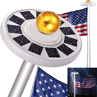 30 LED Solar Flag Pole lights,IP65 Weatherproof Flagpole Downlight, XCSOURCE Solar Flag Pole Lights Outdoor Dusk to Dawn for Most 15Ft 16ft 20Ft 25Ft Auto On/Off Night Light
