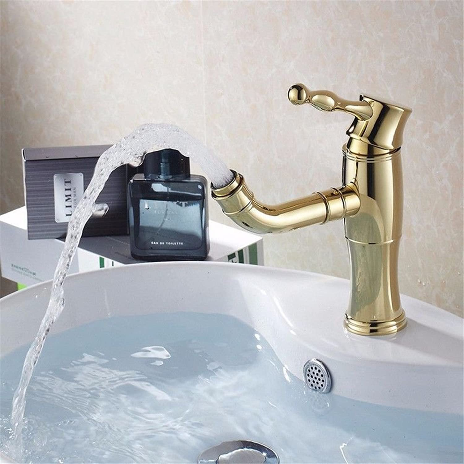 NewBorn Faucet Water Taps Hot And Cold Water Retro Wash gold Hot And Cold Basin Tap To redate The Water Nozzle