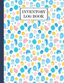 """Inventory Log Book: shells Cover inventory list notebook, Large Inventory Log Book - 120 Pages, Size 8.5"""" x 11"""" for Busine..."""