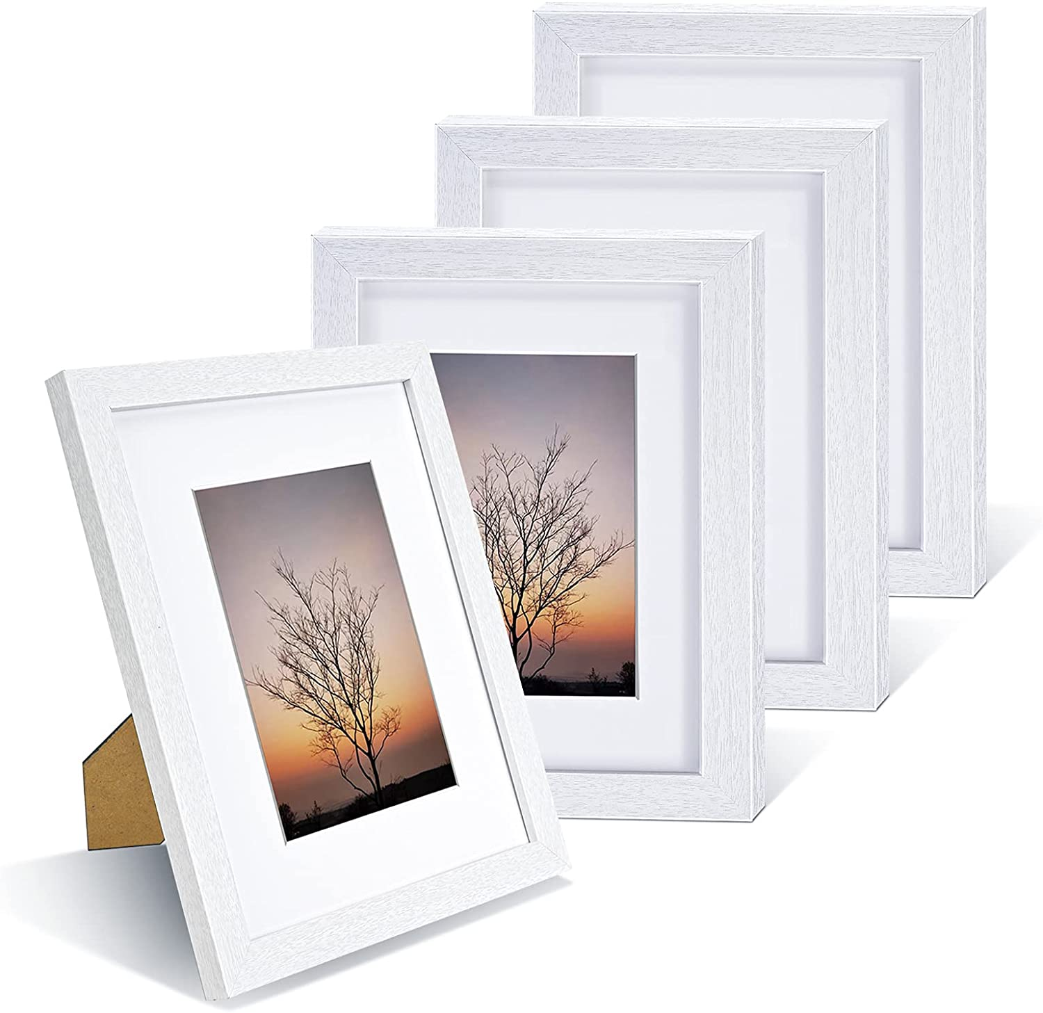 Nacial Max 50% OFF Picture Frames Austin Mall 8x10 inch Set 4 with Frame Photo White of