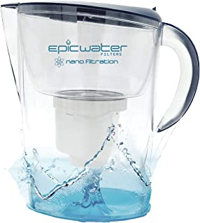 Epic Nano Water Filter Pitcher | Navy | 3.5L | BPA-Free | Nanofiltration Removes Fluoride, Bacteria, Virus, Giardia, Cryptosporidium, E-Coli, Lead, Chromium 6, PFOS, PFOA, Heavy Metals, Pesticides