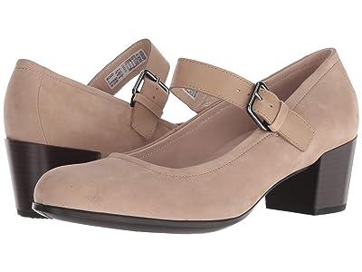 ECCO Shape 35 Mary Jane (Dune/Dune Calf Nubuck/Calf Leather) Women
