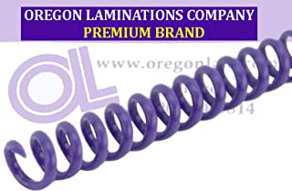 4:1 Spiral Binding Coils 6mm Silver PMS 877 C-Metallic /¼ x 15-inch Legal pk of 100