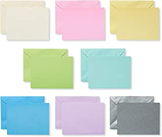 American Greetings Single Panel Blank Cards with Envelopes, Pastel (100-Count) - 5672259