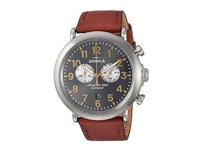 Shinola Detroit The Runwell Chronograph Titanium 47mm 20109230 (Dark Cognac/Gunmetal) Watches