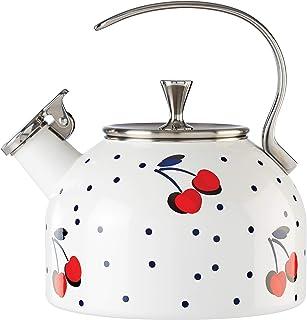 KATE SPADE Vintage Cherry Dot Tea Kettle, 3.7 LB, Multi