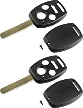 Key Fob Keyless Entry Remote Shell Case & Pad fits Honda 2008-2012 Accord / 2006-2013 Civic EX / 2009-2015 Pilot, Set of 2