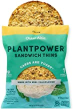 Outer Aisle Gourmet Cauliflower Sandwich Thins - Low Carb, Gluten Free, Paleo Friendly, Keto … (Italian Thins, Pack of 4)