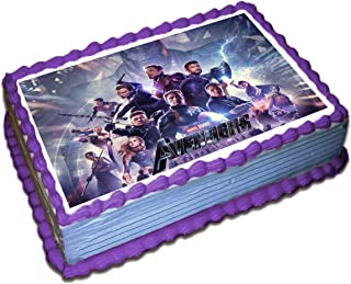 Avengers End Game Cake Topper Icing Sugar Paper 8.5 x 11.5 Inches Sheet Edible Frosting Photo Birthday Cake Topper Fondant Transfer (Best Quality Printing)