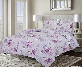 Home Comfort Bell Flower Luxurious Premium Quality 6 Piece Comforter Set King