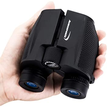 Aurosports 12x25 High Powered Compact Binoculars for Adults Kids with Low Light Night Vision,Lightweight Folding Binocular for Hunting,Gifts for Men Small Binoculars for Bird Watching Hiking Camping