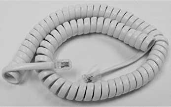 White 9 Ft Handset Cords for Panasonic Phone KX T7200 T7400 DT300 DT500 NT300 NT500 Series T7420 T7425 T7431 T7433 T7625 T7630 T7633 T7720 T7730 T7731 W Curly Coil by DIY-BizPhones