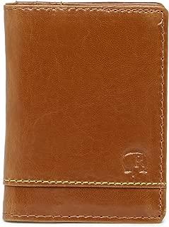 Men's Aberdeen Leather RFID Card Case Wallet, One size, Tan