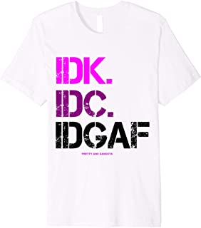 Best idk & idc shirt Reviews
