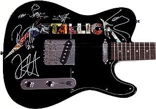 Metallica Autographed Signed Custom Graphics Guitar