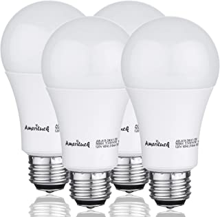 AmeriLuck 2700K Soft White 3-Way LED Light Bulb A19, 40-60-100W Equivalent, Omni-Directional, UL Listed (4 Pack)