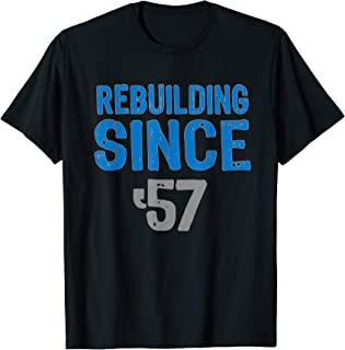 Gift Detroit football Tshirts- rebuilding since 57