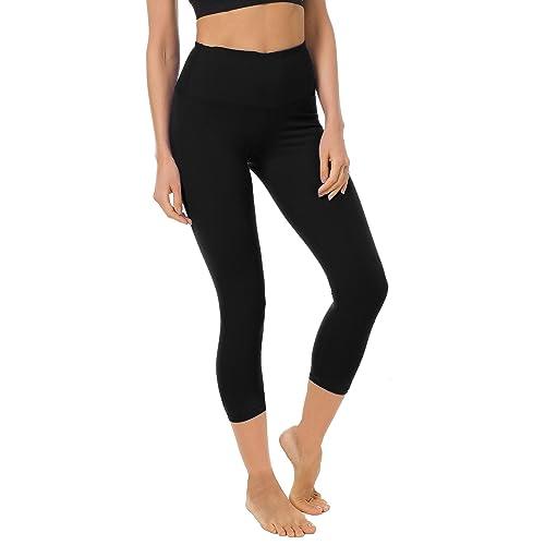 53deb6971e1dd FIRM ABS Women's Yoga Capris Tummy Control Running Yoga Workout Leggings  Pants Hidden Pocket